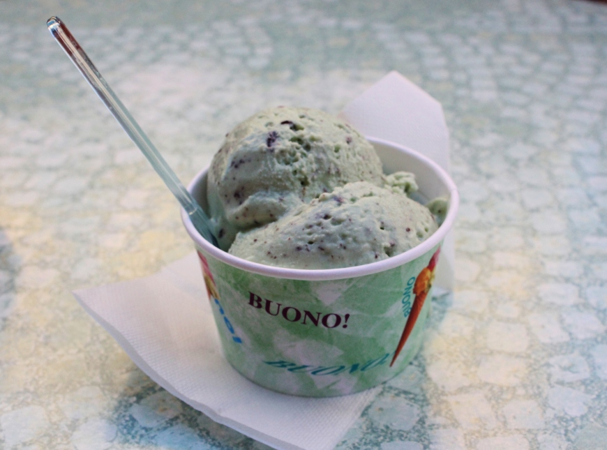 Chocolate chip mint gelato
