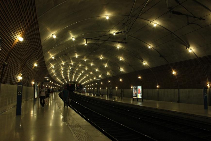 Inside the Monaco train station