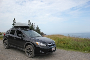 The Subie at Liberty Point, Campobello Island, NB