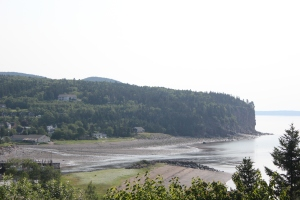 The view from our campsite in Fundy National Park